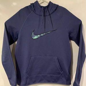 Nike pullover hoodie Dri fit activewear big logo